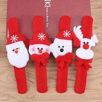 Charm Armbänder Weihnachten Cartoon Schneemann Bär Elk Santa Claus LED Pailletten Leuchtendes Slap Armband