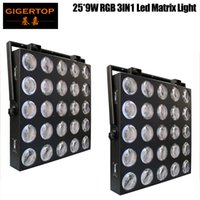 Tiptop 2 jednostki Oświetlenie Sprzęt do etapu 25x9W RGB LED Matrix Panel Blinder COB LED DMX 5X5 RGB LED Pixel Matrix Light
