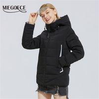 Miegofce Yeni Kadın Pamuk Sıcak Kapüşonlu Ceket Rüzgar Geçirmez Ceket Basit Tasarım Parka Kış Giyim Kadın Y201001