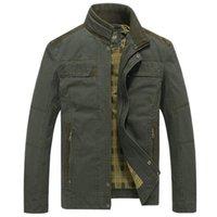 Мужские куртки зимняя куртка мужчины джинсовые бомбардировщики армейские пальто стойки воротник одежда весна осеннее уличная одежда Casaco Masculino