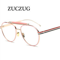نظارات شمسية Zuczug الأزياء عادي زجاج النظارات النساء الرجال الرجعية النظارات البصرية إطار نظارات العين النظارات uv400