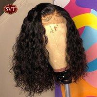 Onde de l'eau brésilienne Bob 4x4 Perruque de fermeture Human Hair Dentelle Frontal Wavy Bobly Bob Perruques pour femmes Pre Permat de dentelle