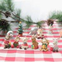 만화 미니 크리스마스 장식 가족 작은 동물 수지 장식품 크리 에이 티브 홈 크리스마스 장식 선물 10 스타일 DDA2420