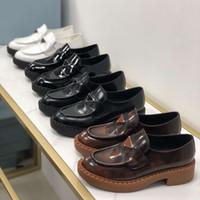 منصة الأصلي المرأة المتسكعون أحذية عارضة فتاة جلد أحذية السيدات جلد طبيعي سميكة باطن chaussures مصمم أزياء المرأة حجم 35-41