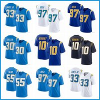Los10 Justin Herbert AngelesFußball-Jersey-Ladegeräte.33 Derwin James JR 30 Austin Ekeler 13 Keenan Allen 97 Joey Bosa genäht