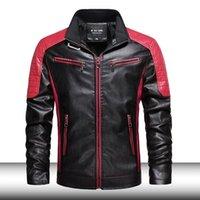 Männer Slim Fit Retro Motorradjacke Männer Mode Stehkragen Qualität Bomber Lederjacke Mantel PU Biker Outwear Man 201120