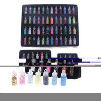 Prego Glitter 1 Conjunto Espumante Epóxi Resina Pó Coração Estrela Micro Beads Art Lantejoulas Adesivos Para Jóias Fazendo Artesanato DIY