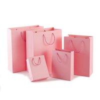 Borse regalo di carta Differenti Color Kraft Paper Bag Shopping Bag with Maniglie Abbigliamento Abbigliamento Stoccaggio POUNCH Borse da imballaggio 0309 Pack