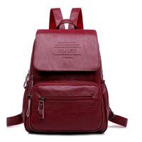 Lanyibaige Mochila Diseñador de cuero de alta calidad bolso de moda escuela de moda de gran capacidad Mochilas de viaje Bolsas de viaje Y201224