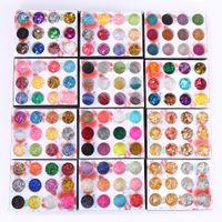 1 상자 불규칙한 껍질 종이 DIY 네일 플레크 다채로운 PAILLETTES 네일 아트 스팽글 반짝이 호일 PVC 매니큐어 셀로판