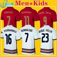 Ronaldo diogo Jota Soccer Jersey Joao Felix Andre Silva 2021 Team National Team B. Fernandes Home Away 21 22 قمصان كرة القدم الرجال + Kids Kit