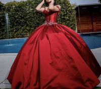Burgundy Princess Quinceanera Dresses 2021 Sweet 16 Ball Gown Beaded Debutante Gowns Tulle Vestidos De 15