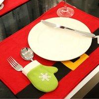 Decoração de mesa ocidental nova mesa de Natal decoração faca de Natal e garfo matemática natal artigos domésticos wq100