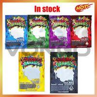 Más nuevos dank gommies 6 tipos 500mg Mylar Bolsa de mylar EDIBLES Packaging Rojas Cierre de cremallera comestibles Gummy para galletas Hierbas secas Flor de tabaco