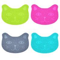 Almohadillas de perros de gato antideslizante 30 * 40 cm PVC anti gatos de lijado alfombrillas de arena de arena suministros para mascotas kitty frotar pies Mat de alta calidad 3 6JN M2