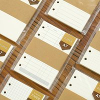6 furos frouxo folha de enchimento de bloco de blocos A7 Refill Organizer Planner Página Interna para Filofax 45pages School office Supplies1