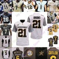 2020 Personalizado Vanderbilt Commodores Jersey Futebol Ncaa College 87 Matthews 74 Chris Williams 2 Deuce Wallace 21 Keyon Brooks 32 Sarah Fuller