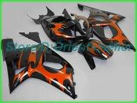 Custom Orange Black AE020 Kit de Feira para Suzuki GSXR 600 750 K1 2001 2002 2003 GSXR600 GSXR750 01 02 03 Motocicleta Fairings Kit