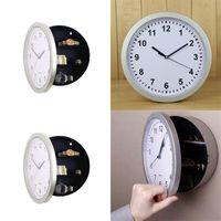 시계 벽시계 숨겨진 스토리지 상자 숨기기 시계 원형 오프닝 정지 금고 주최자 벨 호텔 17HL C2