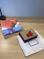 Canvas Cereja Vermelho Cartão Slot Breve parágrafo Pequeno Alteração Mão de Alta Qualidade Moda Carteiras Senhoras Bolsas De Couro Genuíno Para Mulheres Embreagem
