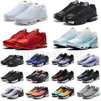 نوعية جيدة tn plus 3 الاحذية الرجال الأحذية الرياضية الرجال chaussures ثلاثة أسود الليزر الأزرق الأرجواني الفضة الأحمر الدخان الرمادي الأحذية الرياضية في الهواء الطلق