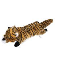 Hundekatze quietschende spielzeug kein füllung tiger leopard lion plüsch kau haustiere spielzeug für kleine mittelhunde trainieren jk2012ph