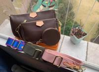 베스트 셀러 여성 핸드백 지갑 Pochette 3 조각 / 세트 액세서리 크로스 바디 가방 어깨 가방 M44823 최고의 선물 크기 : 25x5x14cm