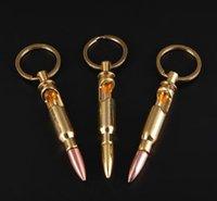Bullet Shell Shape Bottch Ouvre-bouteille Bière Soda Creative Creative Keychain Key Ring Bar Bar Outil Partie Cadeau d'affaires ZZC3480
