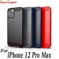 Kohlefaser Textur TPU-Hüllen für iPhone 12 Pro max SE2020 LG Stylo 6 Harmonie 4 Samt Pixel 5 Samsung Note 20