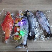 Моделирование электрические рыбы зарядные плюшевые домашние животные игрушки дразнить Cat кукла электронный коммутатор красочные Cattoy дайвинг рыбы горячие продажи 10 5yy M2