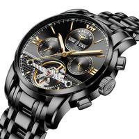 2021 Neue Uhr Schweizer Zertifizierte echte mechanische Uhr Automatische Wurmloch-Konzept Wasserdichte Watch Herren Berühmte Marke Trend B1205
