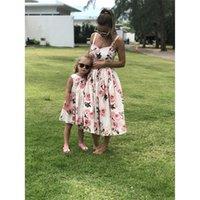 Aiqingsha madre hija vestidos de verano ropa floral ropa de boda mamá e hija vestido ropa familiar sets lj201109