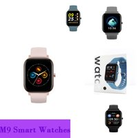 M9 de alta calidad M9 Smart Watch Impermeable Anti-perdido BT Llamar a la frecuencia cardíaca Monitoreo de la presión arterial Podómetro Sueño Fitness Pista de sonido música