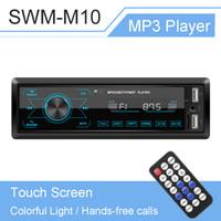 Autoradio 1 DIN MP3 Player Bluetooth Stereo Auto Radio Touchscreen mit buntem Licht für Auto-Eingabempfänger