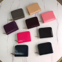 Portafoglio a portafoglio corto in vernice in vernice in vernice di alta qualità per lady Shinny Porta carte in pelle Portamonete Portamonete Borsa da donna Portafoglio Classic Zipper Pocket