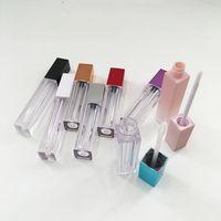 Contenitori di scatola di plastica lucida del labbro vuoto contenitori rosa argento nero del tubo del contenitore del tubo del contenitore mini bottiglia di split lucida del labbro