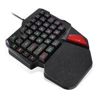 Teclado de un solo jugador de juego con cableado con cable Teclado mecánico del juego Teclado para la tableta móvil Laptop PUBG juego WJJ