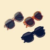 النظارات الشمسية 20211Fashion ألوان الحلوى النساء المتضخم النساء الرجال درع العين نظارات الشمس ظلال fml