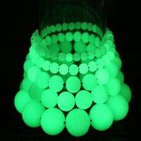 6 8 10 12 mm contas pulseira luminoso pedra fluorescente pérola noite luz luz brilhar no escuro para as mulheres