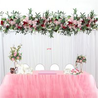 1M Decoración de la boda Luxury Road Citado Flore artificial Rose Peony Hydrangea Mix DIY Doy Arched Puerta Fila Fila T Estación Muro de Navidad