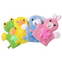 Bebek Lifiklotlar Çocuk Duş Eldiven Buzucular Banyo Banyo Havlusu 5 Renkler Hayvanlar Tarzı Duşlar Yıkama Bez Havlu Sevimli Eldiven Çocuk Banyo 65 O2