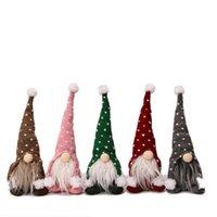 Navidad sin rostro hechos a mano gnomo santa tela muñeca adorno estatuillas suecas vacaciones casa decoración de jardín suministros jk2010xb