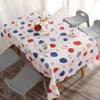 Limone Strawberry Pattern Tavolo Tavolo Rettangolo Rettangolo Impermeabile impermeabile a prova di olio PVC GRATIS PVC Tovaglia del fumetto Nuovo arrivo 4 6BS J2