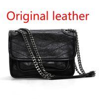 Cuero genuino de alta calidad Messenger Bag Handbag Purse Tote Envío gratis al por mayor Descuento