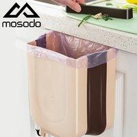 Bac pliante Cuisine Cuisine Porte suspendue Poubelle peut sécher la voiture pliable pliable poubelle de la salle de bain poubelle LJ201128