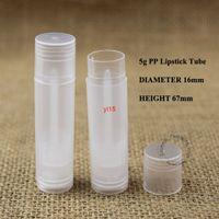 100 teile / los großhandel kunststoff 5g pp lippenstift rohr transparent nachfüllbar 1/6 oz container lippen balm 5ml topf gloss sub-spottgood qualitty