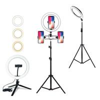 Luz de diodo emissor de luz Dimmable Luz com tripés Suporte de suporte Telefone Selfie Selfie Anel Ring Ringlight para Maquiagem Youtube Tiktok Vlog FY8180