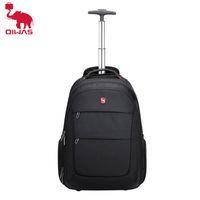 Oiwas Men's Trolley Business Travel With Wheels Grande Capacidade Duffle Bag Laptop Baggage Mochilas para mulheres Adolescentes