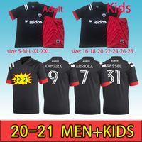 20-21 DC United Fans Version Washington Soccer Jersey Adult + Kit Kit # 9 Kamara Gressel MLS Tailandia Hogar Maillot de Foot
