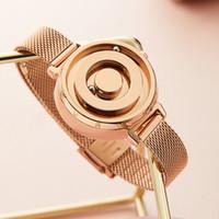 Magnetic Gold Luxo Ladies Quartz Mulher De Aço Inoxidável Relógio De Pulso Fashion Clock Dropship 201199
